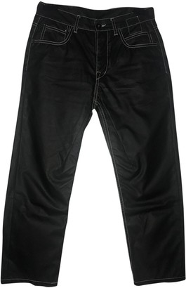 Rick Owens Black Polyester Trousers
