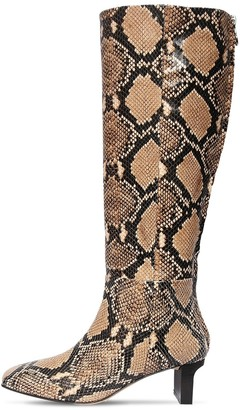 AEYDĒ 55mm Cicely Snake Print Leather Boots