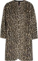 Isabel Marant Emmett brushed leopard-print wool-blend coat