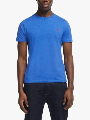 Ralph Lauren Polo Short Sleeve Custom Slim Fit T-Shirt, Dockside Blue Heather