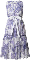 Rochas printed flared dress - women - Cotton - 40