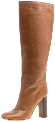 Chloé Brown Leather Knee High Boots Size 39