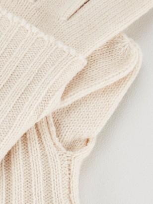 Very Knitted Fold Over Cuff Glove - Cream