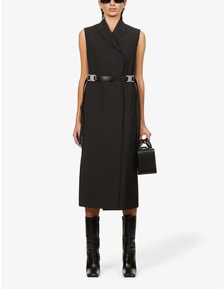 Alyx V-neck wool-blend midi dress