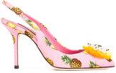 Dolce & Gabbana pineapple print pumps - women - Leather/Glass Fiber/Viscose - 37.5
