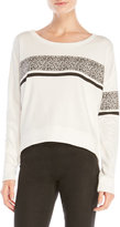 True Religion Printed Panel Cropped Pullover