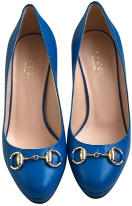 Gucci Blue Leather Heels