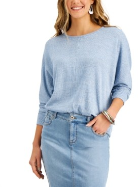 Style&Co. Style & Co Heathered Dolman-Sleeve Top, Created for Macy's