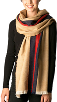Pure Style Girlfriends Beige Thin-Stripe Scarf