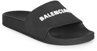 Balenciaga Embossed Logo Pool Slides