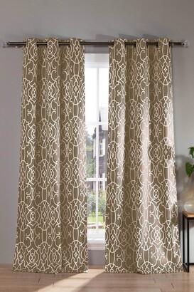Duck River Textile Kit Geometric Blackout Curtain Set - Taupe