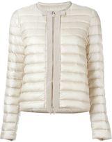 Moncler ribbon trim padded jacket - women - Feather Down/Polyamide - 3