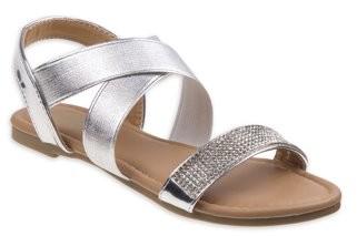Petalia Rhinestone Criss-Cross Strap Dressy Sandals (Little Girls & Big Girls)