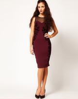 Flocked Bodycon Dress