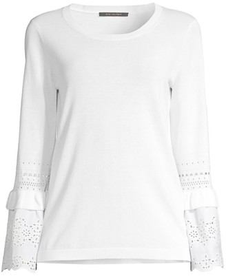 Kobi Halperin Claudette Fringe Bell-Sleeve Sweater