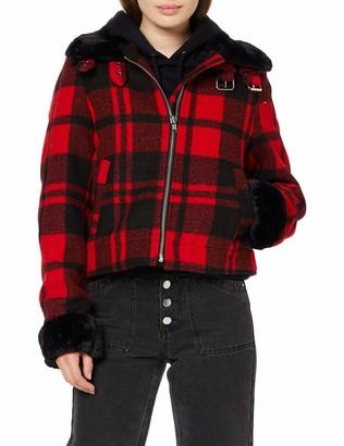 Urban Classics Women's Ladies Plaid Jacket Denim