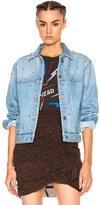 Etoile Isabel Marant Coften Fancy Studded Denim Jacket in Blue.
