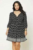 Forever 21 FOREVER 21+ Plus Size Bandana Print Dress