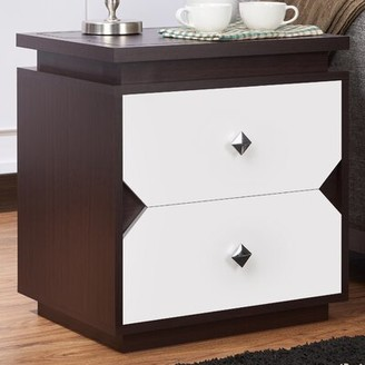 Bronx Allee Contemporary End Table with Storage Ivy
