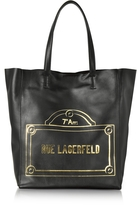 Karl Lagerfeld Rue Lagerfeld Black Leather Shopper Bag