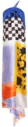 Dries Van Noten One-shoulder printed silk dress