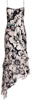 Adrianna Papell Bias Cut Floral Printed Dress