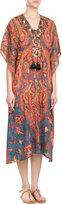Figue Embellished Silk Kaftan Dress