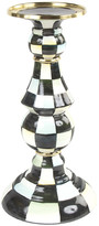 Mackenzie Childs Courtly Check Enamel Pillar Candlestick