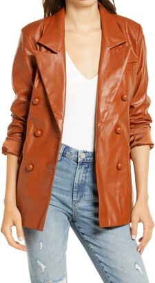 Blank NYC The Nightingale Faux Leather Blazer