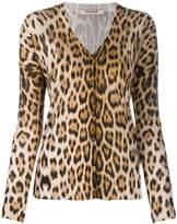 Roberto Cavalli animal print silk cardigan