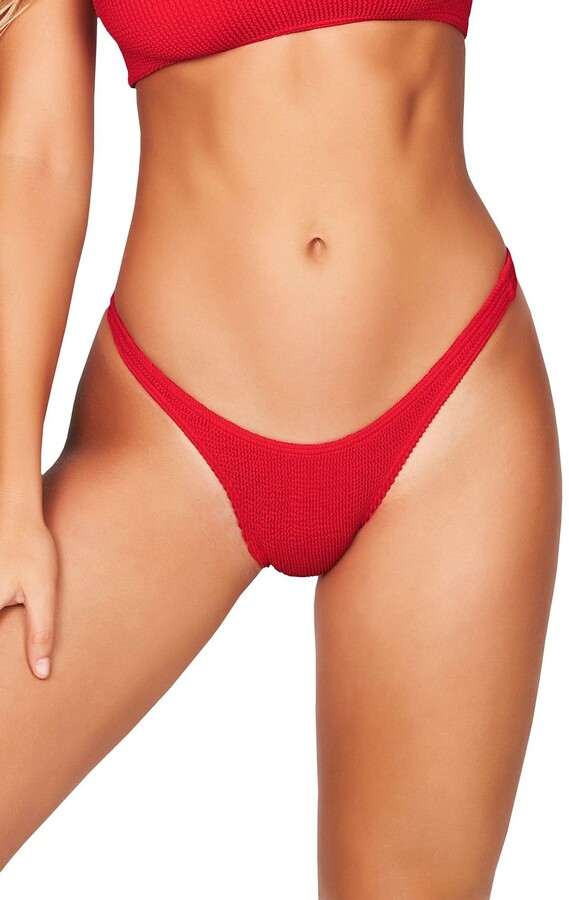 Thumbnail for your product : BOUND by Bond-Eye The Scene High-Cut Ribbed Bikini Bottoms