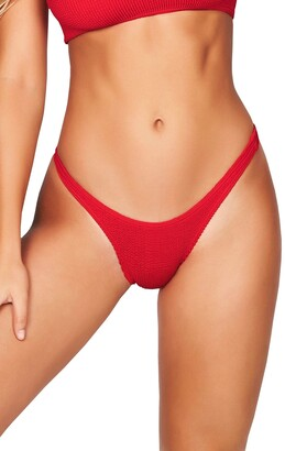 Bond Eye Bound By The Scene High-Cut Ribbed Bikini Bottoms