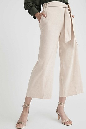 Witchery Tie Stretch Linen Pant