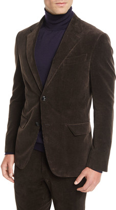 Ermenegildo Zegna Men's Corduroy Two-Button Jacket