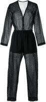 IRO perforated jumpsuit - women - Cotton/Polyamide/Polyester - 38