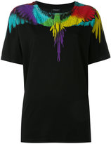 Marcelo Burlon County of Milan multicolour feather print T-shirt - women - Cotton - M