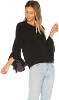 Blaque Label Ruffle Sleeve Top in Black. - size L (also in XS)