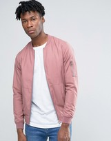 Pull&bear Bomber Jacket In Pink