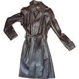 Gucci Brown Leather Trench coat