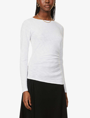Theory Round-neck organic cotton-jersey top