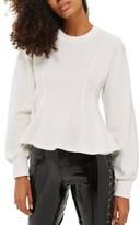 Topshop Women's Corset Seam Sweatshirt