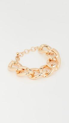 "Kenneth Jay Lane 9.5"" Gold Large Links Chain Bracelet"