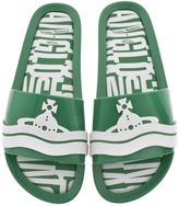 Vivienne Westwood X Melissa Slide Flip Flops Green