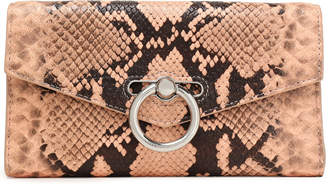Rebecca Minkoff Snake-effect Leather Continental Wallet