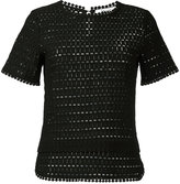 Blugirl shortsleeved knitted blouse - women - Polyester - 42