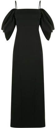 Carolina Herrera Draped Puff Sleeves Dress
