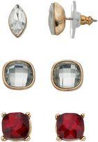 Dana Buchman Marquise & Square Stud Earring Set