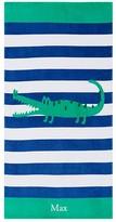 Pottery Barn Kids Alligator Classic Stripe Kid Beach Towel, Multi