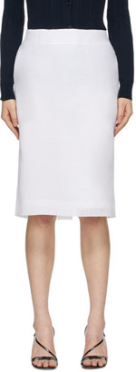 Nina Ricci White Straight Mid-Length Skirt