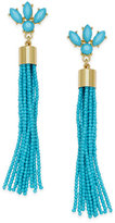 INC International Concepts Gold-Tone Stone and Bead Tassel Drop Earrings, Created for Macy's